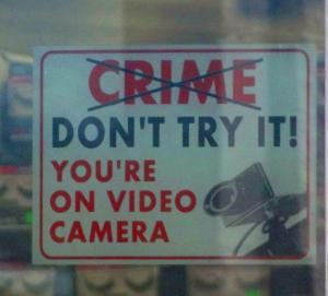 Crime Sign