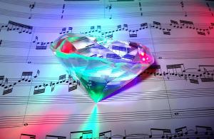 Like the other photo, this  shows a contrast between different elements--the diamond and the sheet music.  My post attempts to show how contrasts can exist simultaneously.