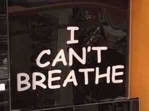 "Eric Garner's last words were ""I Can't Breathe,"" a plea to the police to stop choking him.  Athletes and many others have worn it to protest Eric Garner's death."