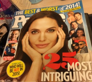 PEOPLE MAGAZINE chose 25 intriguing people of 2014 and named Angelina Jolie Number 1.