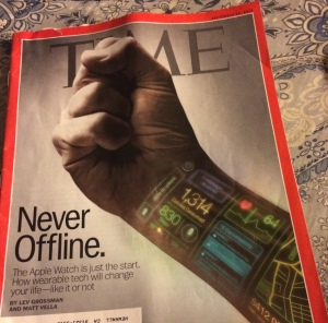The Apple Watch was the cover story on the September 22, 2014 issue of TIME MAGAZINE.