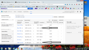 Google AdWords shows you how much competition and searches exist for your key terms.