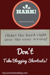 Bloggers think they can be a success at blogging by rarely blogging.
