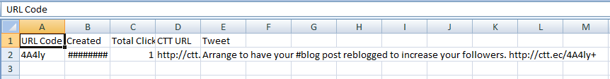 A spreadsheet enables you to compare tweets.