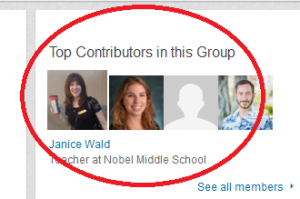 Participate in the LinkedIn group to increase your blog's visibility