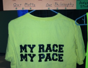 My race shirt