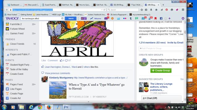 Screenshot #Bloggers Corner