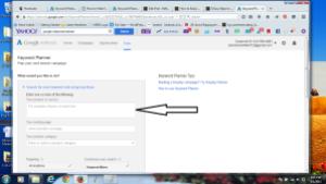 Screenshot: Type your keyword
