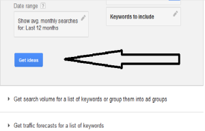 Screenshot Google Adwords Get Ideas