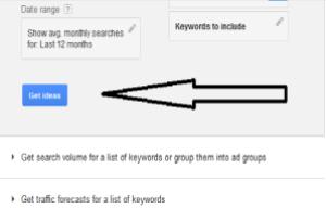 Screenshot Google Adwords Get Ideas