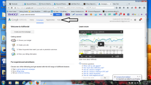 Google AdWords Screenshot - Tools