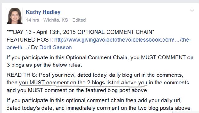 Screenshot Facebook Group Ultra Blog